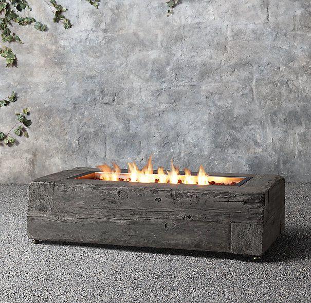 Woodgrain Propane Fire Table In 2019 The Cascadian