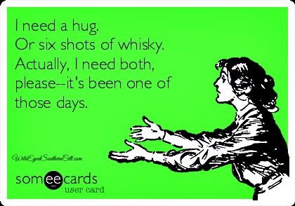 The Celtic whisky hug--because some days, you need more than a pumpkin spice latte or a Zen moment . Laphroaig or Lagavulin? Ahhh..I feel better already. ;-)