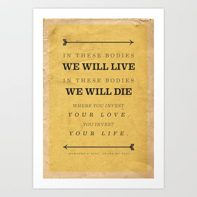 Mumford and Sons Art Print by Fuku77 - $28.08 | Typography ...