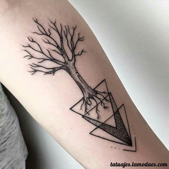 Tatuajes De Triangulos Disenos Y Significado Tatuaje De Triangulo Tattoos Triangulos Tatuaje Triangulo