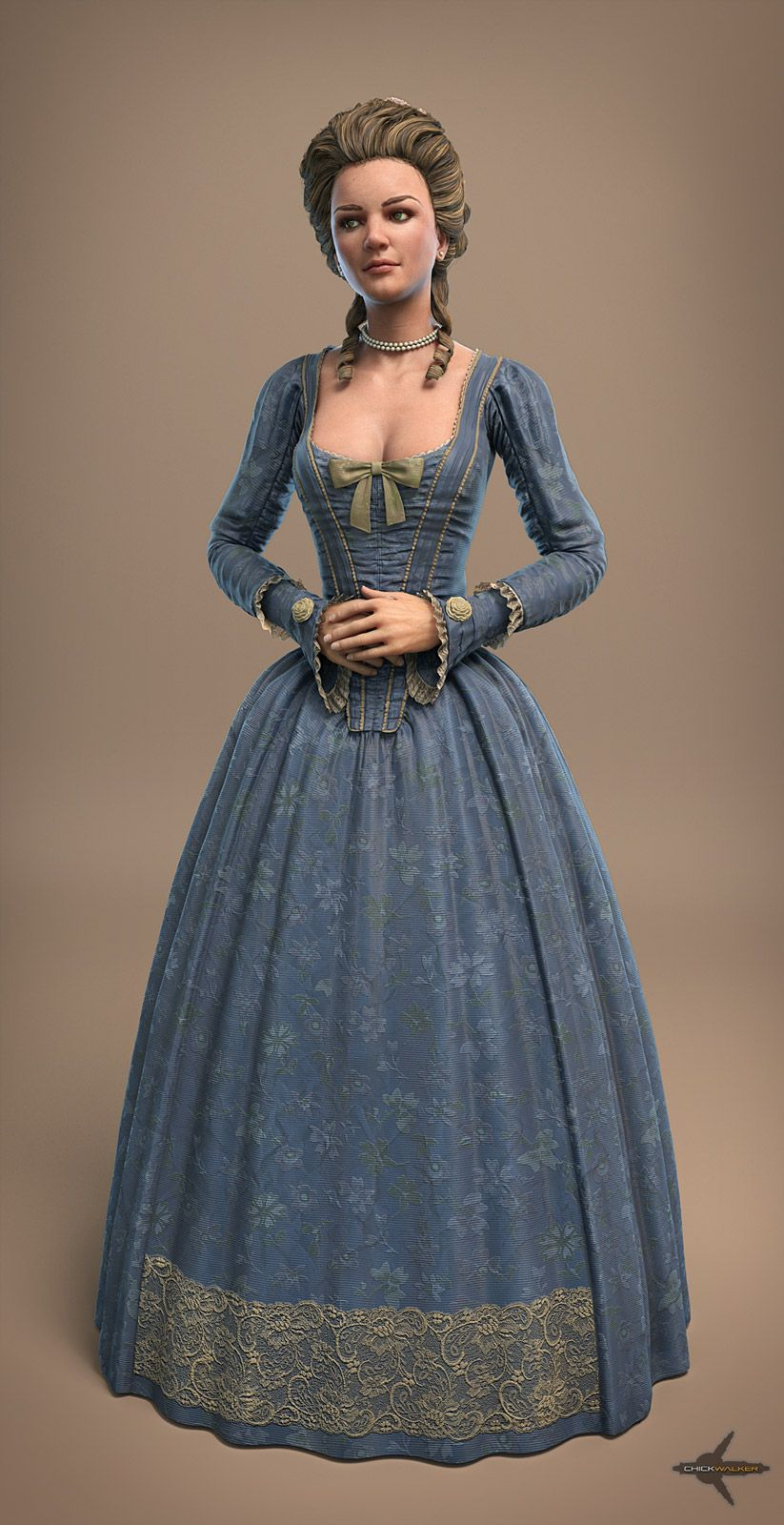 18th Century Woman By Sandpiper 3d Model Amp Comcept 2
