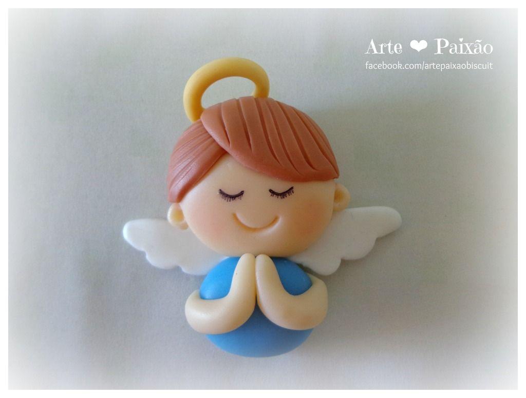 Angel Clay More Com Imagens Anjos De Biscuit Papai Noel De Biscuit Lembrancinhas De Bebe