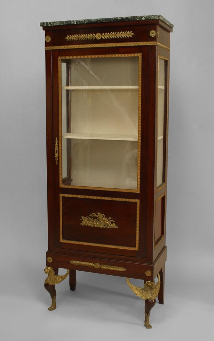French Empire cabinet/case-piece display cabinet/vitrine ...
