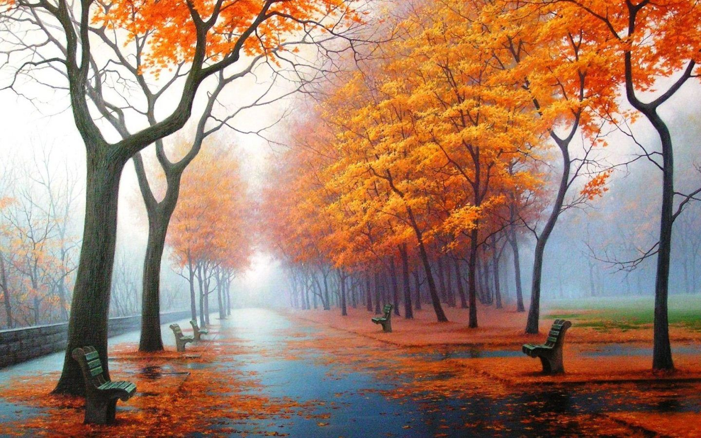 Awesome Nature Mobile Wallpaper Wall Art Canvas Painting Paint By Number Autumn Nature