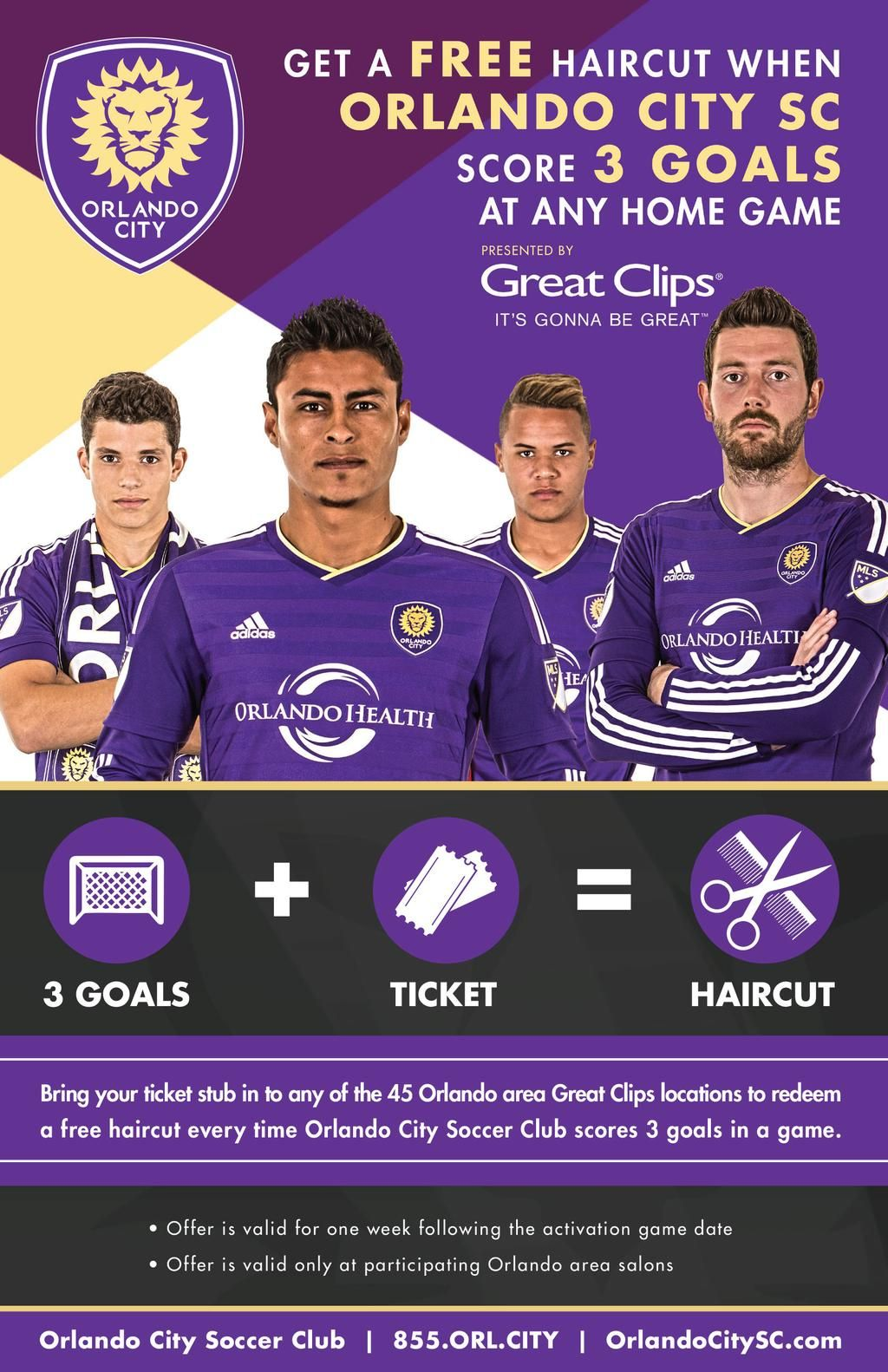 Three Goals Translates To Free Haircuts All Week Courtesy Of