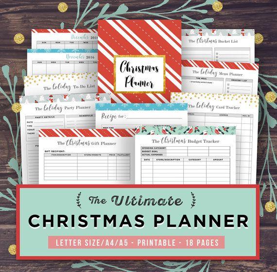 Christmas Planner Printables Letter Size 2021 Christmas Planner Printable 2021 Holiday Planner Kit Gift Etsy Christmas Planner Holiday Planner Holiday Party Planner