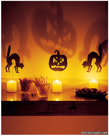 these easy shocking silhouettes will help you create some scary halloween wall scenes these designs from martha stewart come with a free downloadable pdf