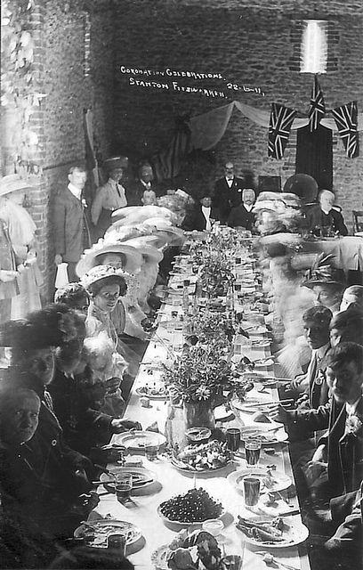 c. 1911 coronation celebration. England
