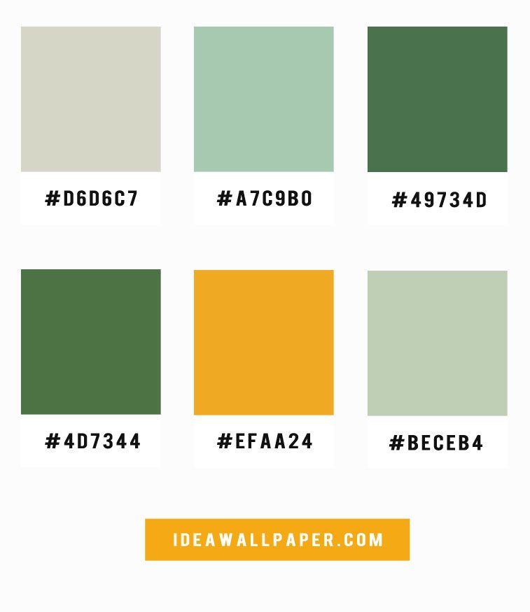 Mint + Green + Mustard Color Palette | Mint color palettes ...