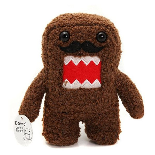 Domo Mustache Plush (46 BRL) ❤ liked on Polyvore featuring accessories, domo, stuffed animals, toys and fillers