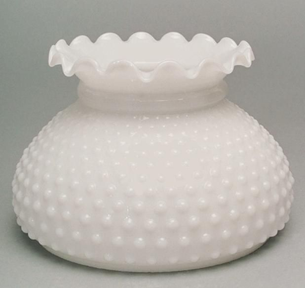 "Hobnail Milk Glass Floor Lamp, Lamp Shade Milk Glass Hobnail Student 7"" White Kerosene"