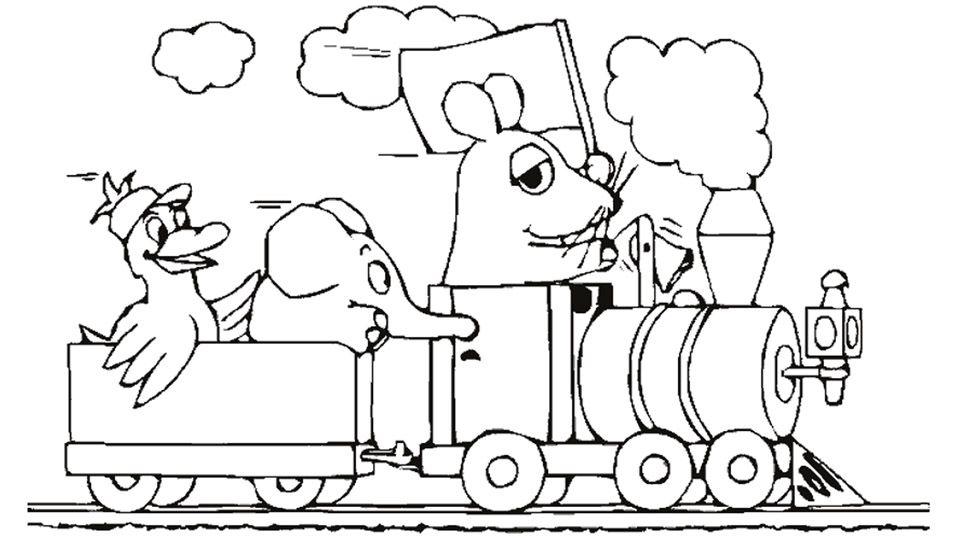 Ausmalbilder Eisenbahn Zum Ausdrucken