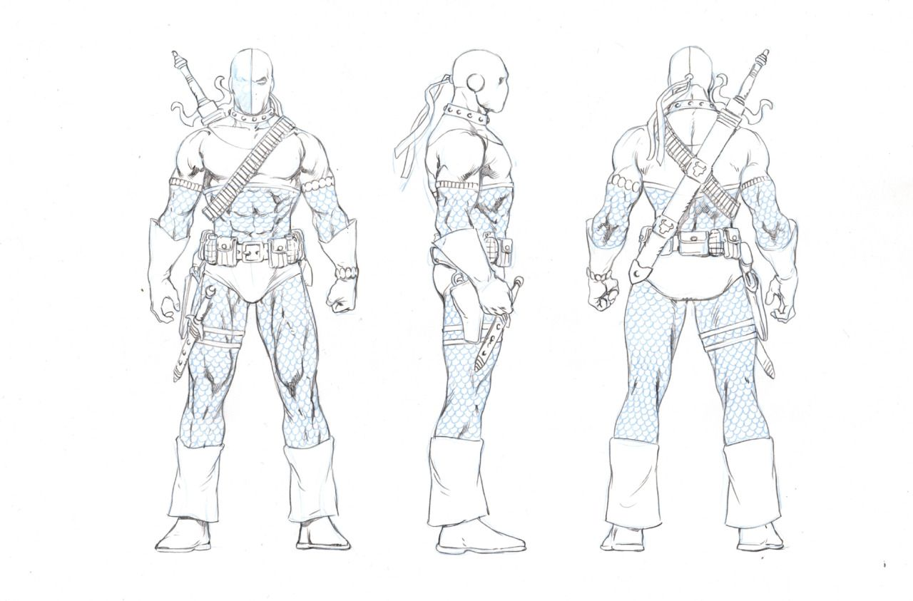 Deathstroke By Ivan Reis Dc Icons Dc Icons Character Design Character Model Sheet