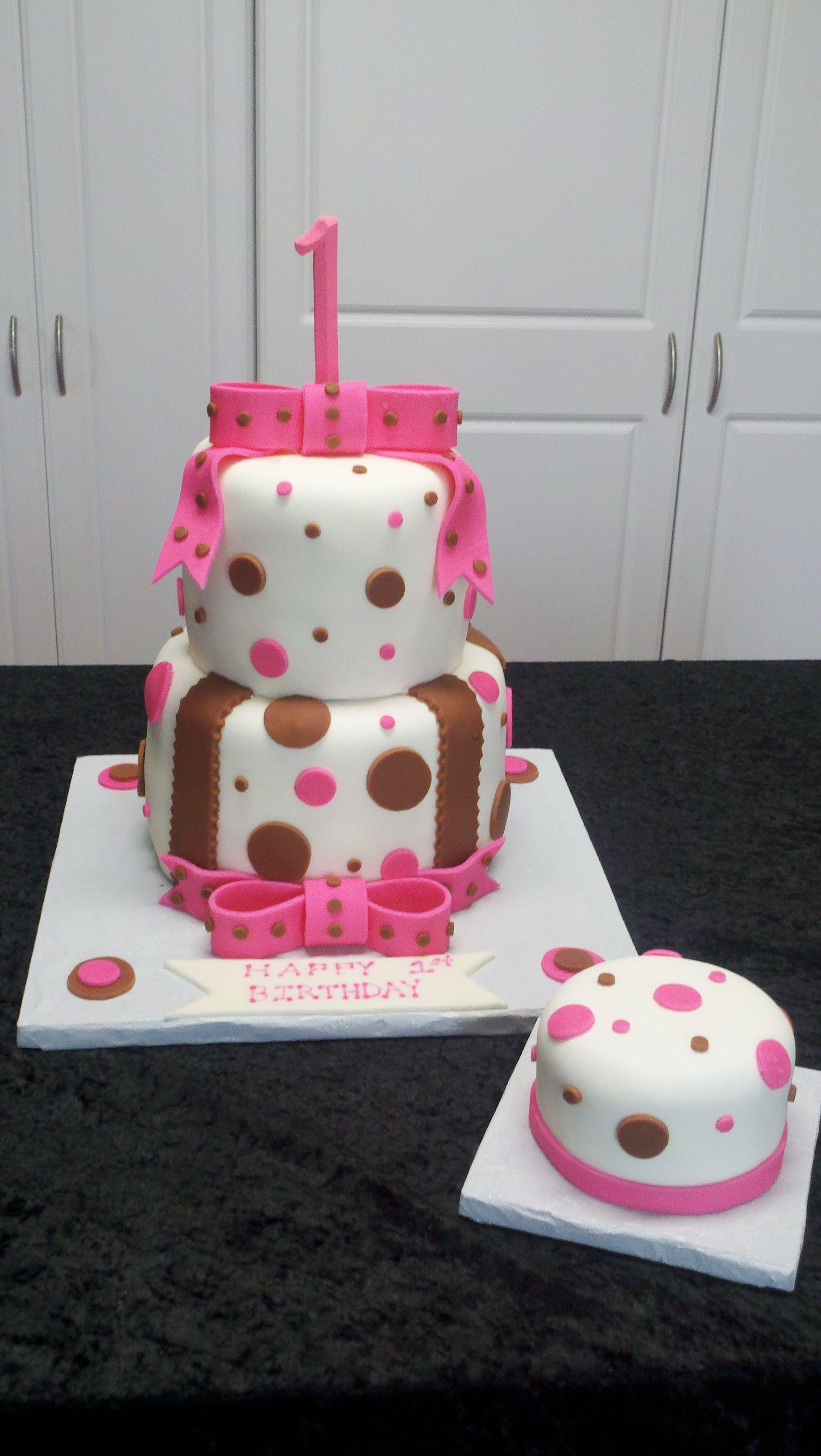 First bday cake with smash cake cake baking cake smash