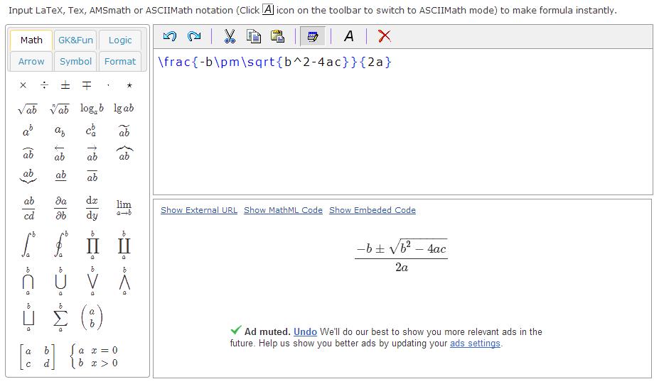 Online Latex Httphostmath Math Pinterest Latex And