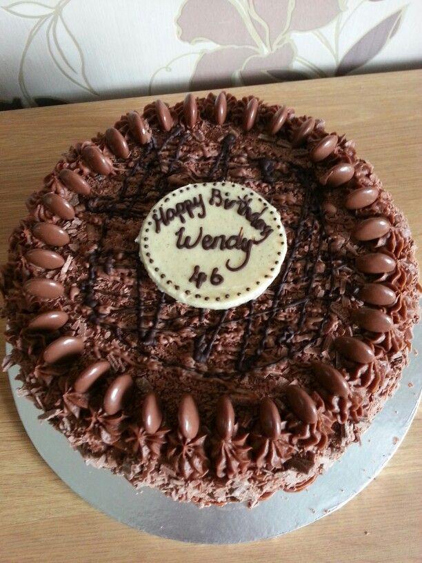 Galaxy Chocolate Birthday Cake Lorraine Own Cakes Pinterest