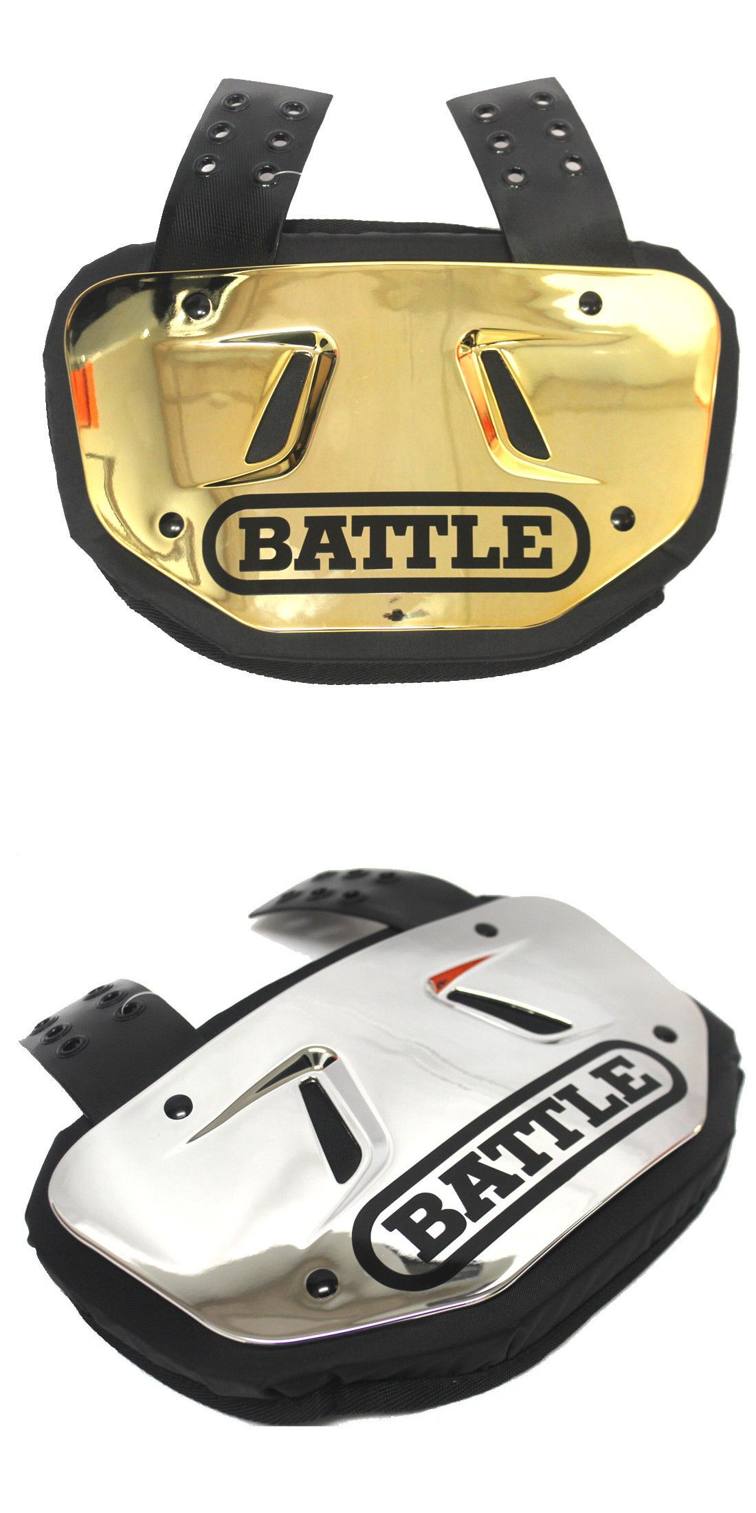 Football 21214  Battle Adult Or Youth Chrome Gold Or Silver Back Plate  Football Backplate -  BUY IT NOW ONLY   49.99 on eBay! 9c05d24d33e5d