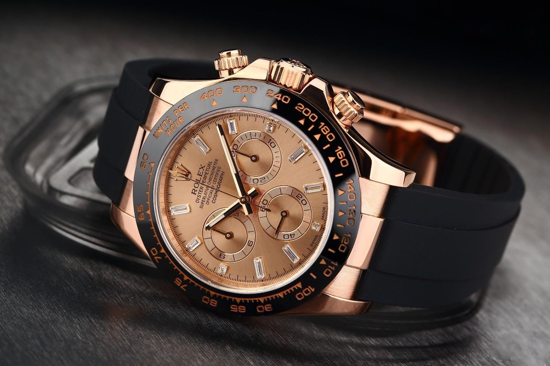 Rolex New Daytona 116515ln Pink Dial Diamond Index Watch Retail Hk 281 000 In 2020 Rolex Rolex Passion Watch Essentials
