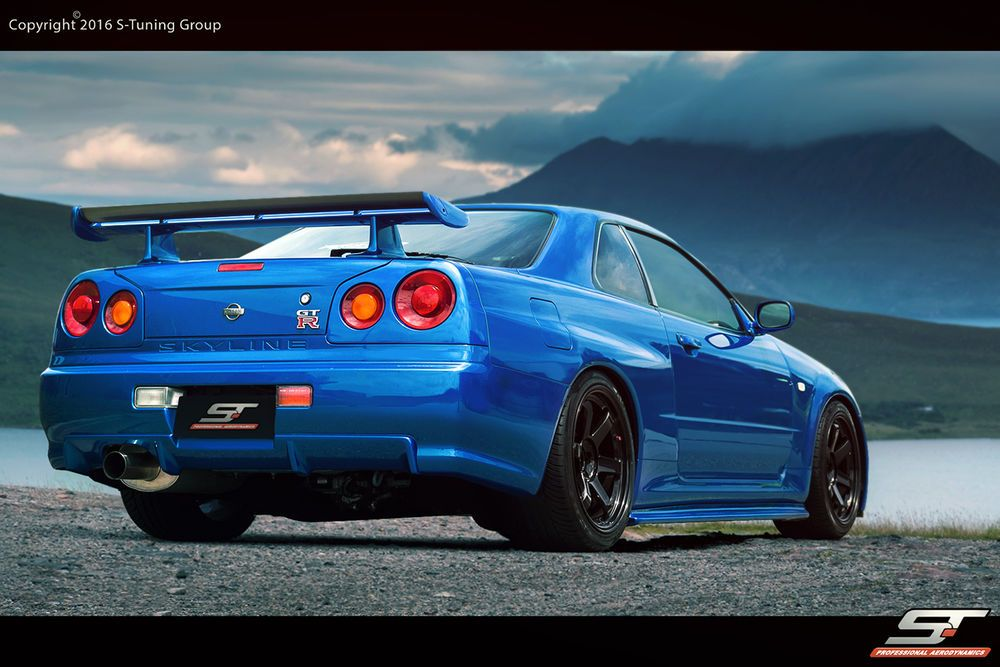 bodykit frontsch rze hecksch rze f r nissan skyline r34. Black Bedroom Furniture Sets. Home Design Ideas