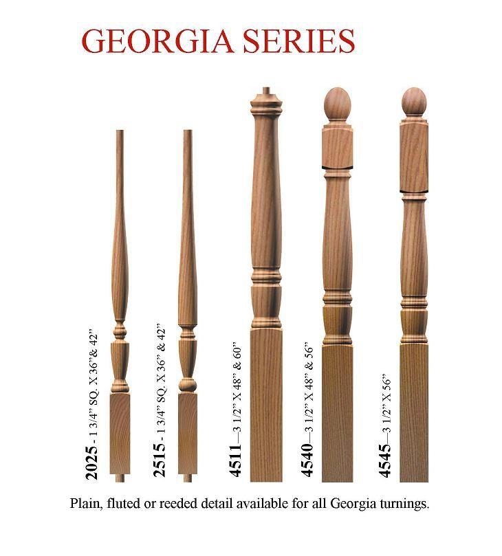 Best Stair Baluster Styles Oak Wood Spindles Georgia Series 400 x 300
