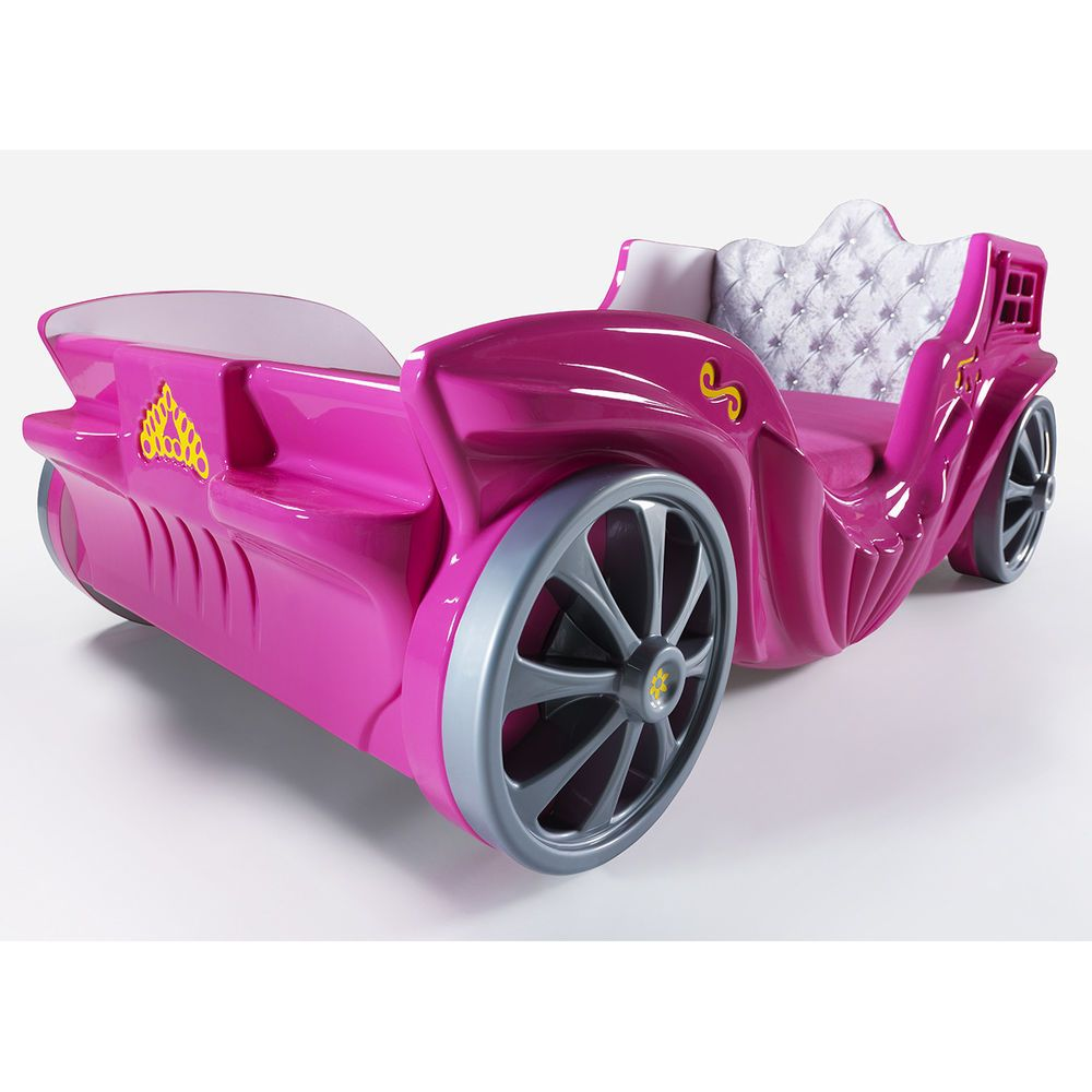 Pink Princess Twin Car Bed By CloudSeller Girls Bedroom Furniture