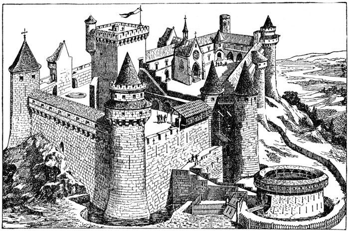 Medieval Castle Clipart Castles In The Sky Geometric