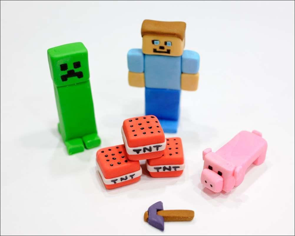 Minecraft Fondant Figures 1 Birthday Party Ideas