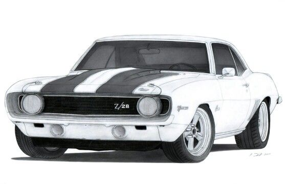 Coloring Pages For Race Cars : 69 z28 car01 pinterest cars car drawings and automotive art