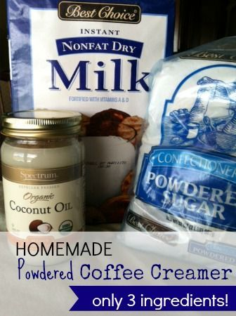 DIY Powdered coffee creamer. I don't drink coffee, Jason does. Coffe