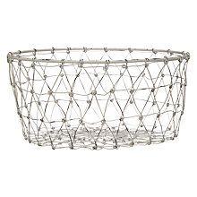 Buy John Lewis Coastal Wire Woven Basket Online at