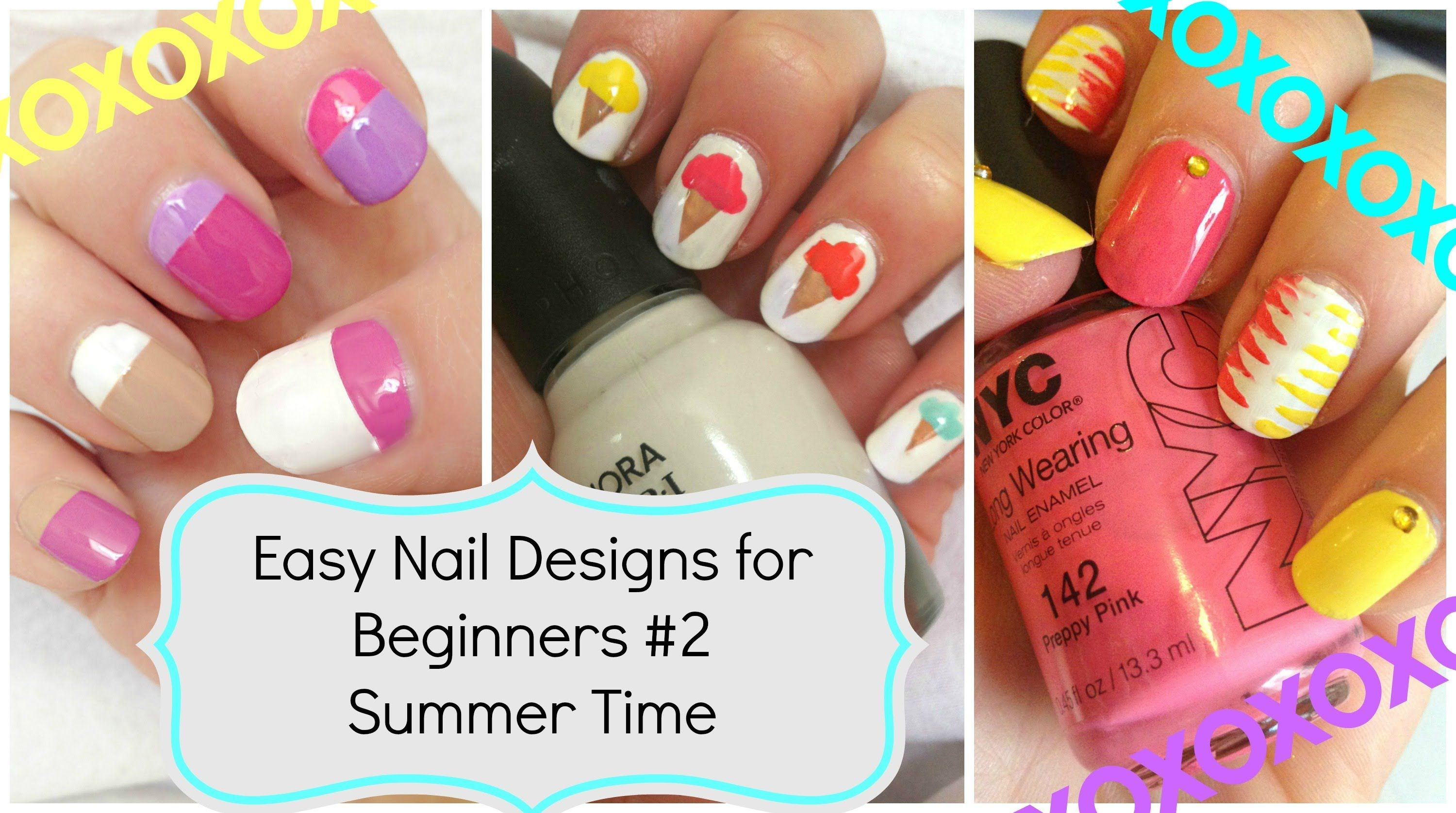 Easy Nail Art For Beginners!!! #2 Summer Time | Nailspiration ...