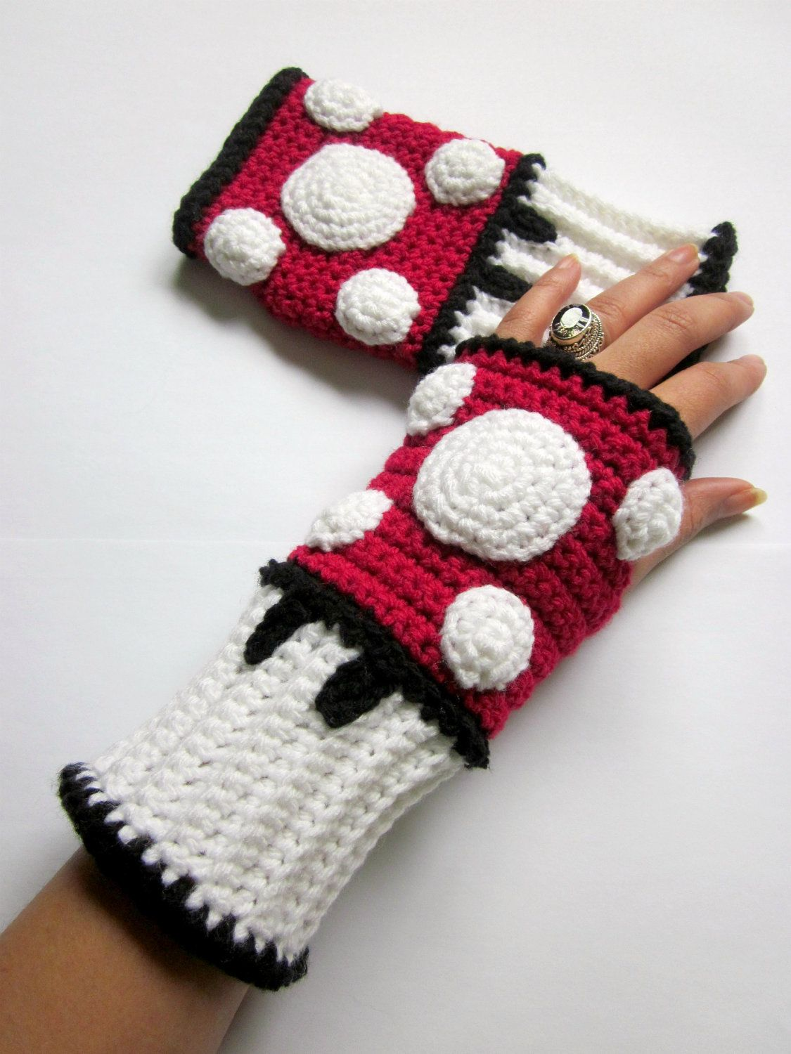 Power Wristies. Mario Mushroom Inspired Wristwarmers. Video Game ...