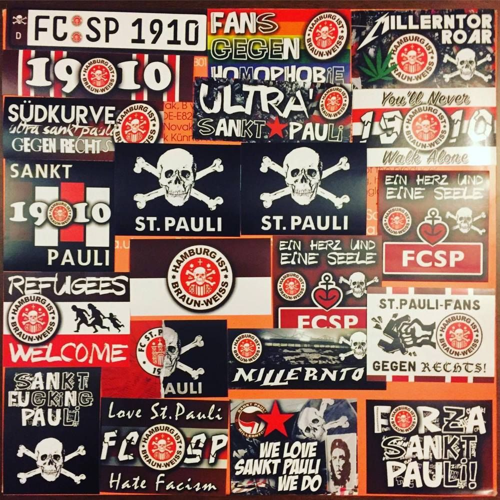 100 X St Pauli Ultras Stickers Aufkleber Based On Sankt