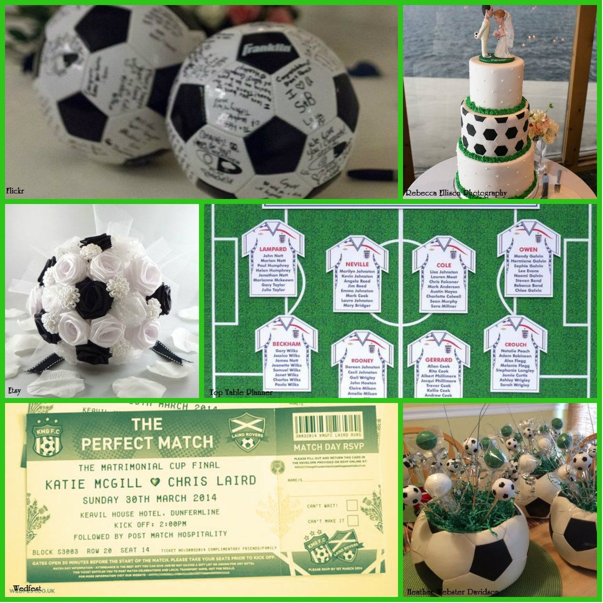 Favours Football Themed Weddingswedding