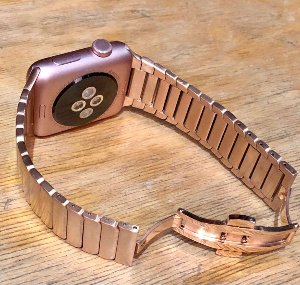 Apple Watch Series 5 4 3 2 Band, Luxury Stainless Steel