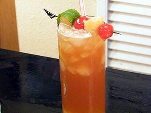 Zombie Drink Recipe 4 Kinds Of Rum Multiple Fruit Juices Apricot