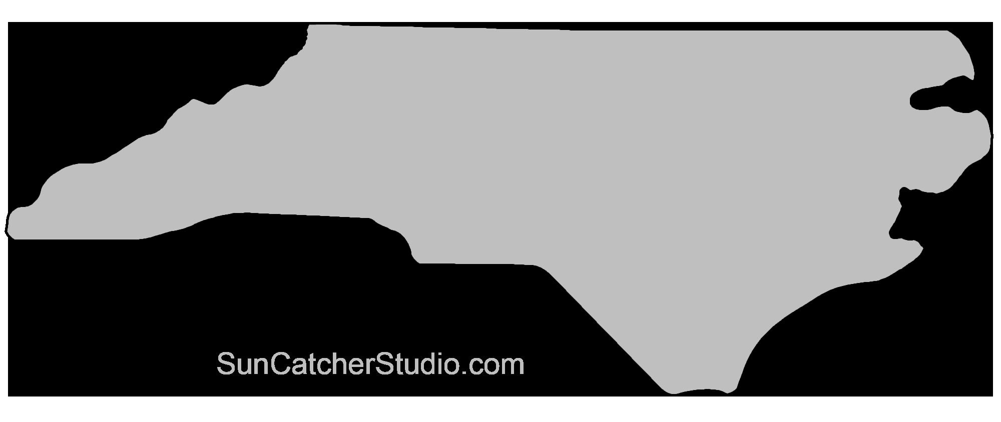 State Outlines Maps Stencils Patterns Clip Art All 50 States North Carolina Map North Carolina Outline North Carolina Stencil