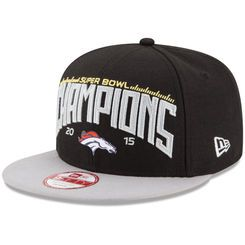 06e8293ea Men s New Era Black Gray Denver Broncos Super Bowl 50 Champions 9FIFTY Snapback  Adjustable Hat