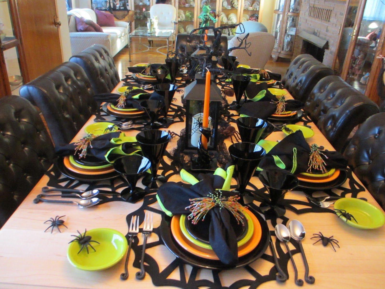 Fiestaware Halloween Table Setting Idea