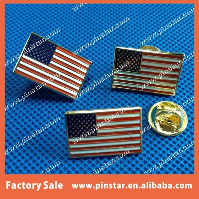 High Quality Single Flag Hat Pin American Country Flag Lapel Pin With Hard Enamel Filled Buy Country Flag Lapel Pin Single Flag Lapel Pin American Flag Lapel