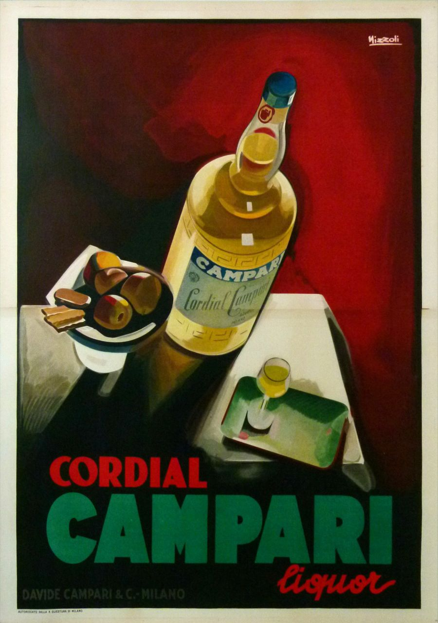 0f78d47097b2a BITTER CAMPARI Original vintage poster by NIZZOLI! Printed in 1926 for  David Compari   Co.