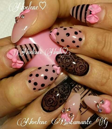 Negro y rosa