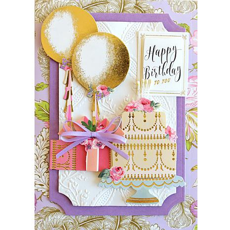 Anna Griffin Mini Birthday Sentiments Embellishments Set of 15