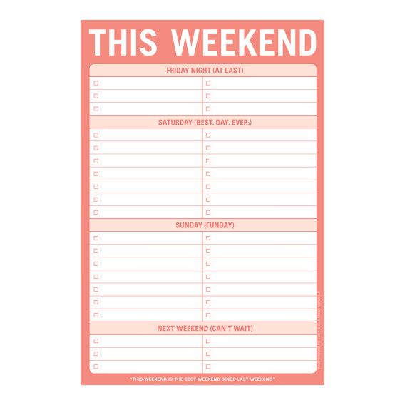 Knock Knock This Weekend Notepads | Free Ship $35+