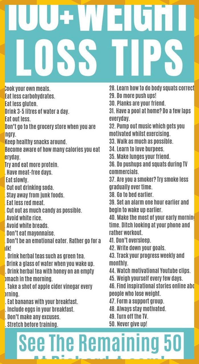 100 Weight Loss Tips That Are Actually Achievable