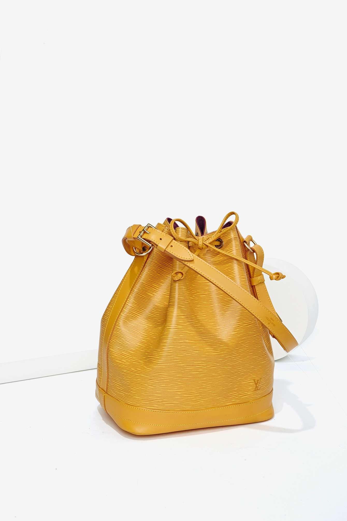be55a7e80fc5 Vintage Louis Vuitton Epi Leather Petit Noe Bag - Yellow