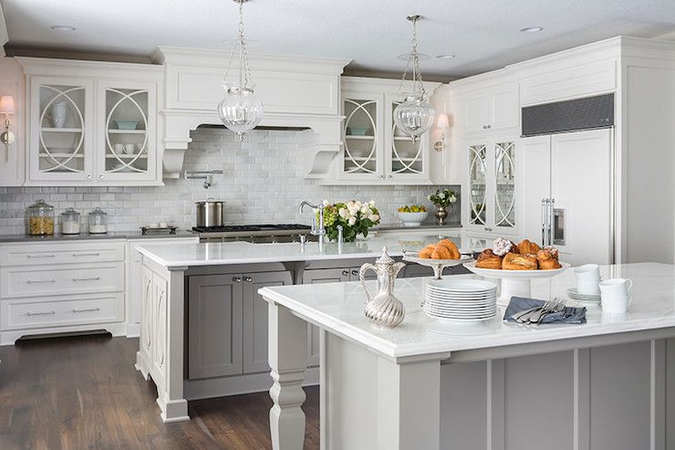 Design Kitchens Double Islands Double Kitchen Islands Grey Island