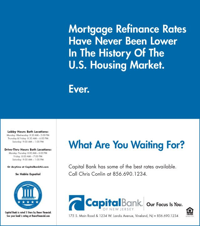 Full Page Ad Refinance Mortgage Marketing Housing Market