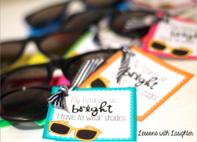 Sunglasses End of the Year Student Gift Freebie is part of Student gifts, School gifts, Sunglasses gift, Student, Gifts, Encouragement gifts - Last year I shared the endoftheyear gifts that I made for my students  This year my gifts look just a tad bit different… same basic idea, just slightly different items! First, I was in love with the sunglasses I found last year in the Target dollar section  They are cute, colorful, and pretty good quality (for …