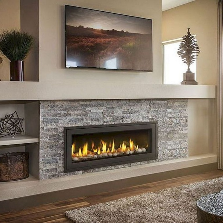 41+ Best Rustic Farmhouse Fireplace Ideas For Your Living Room